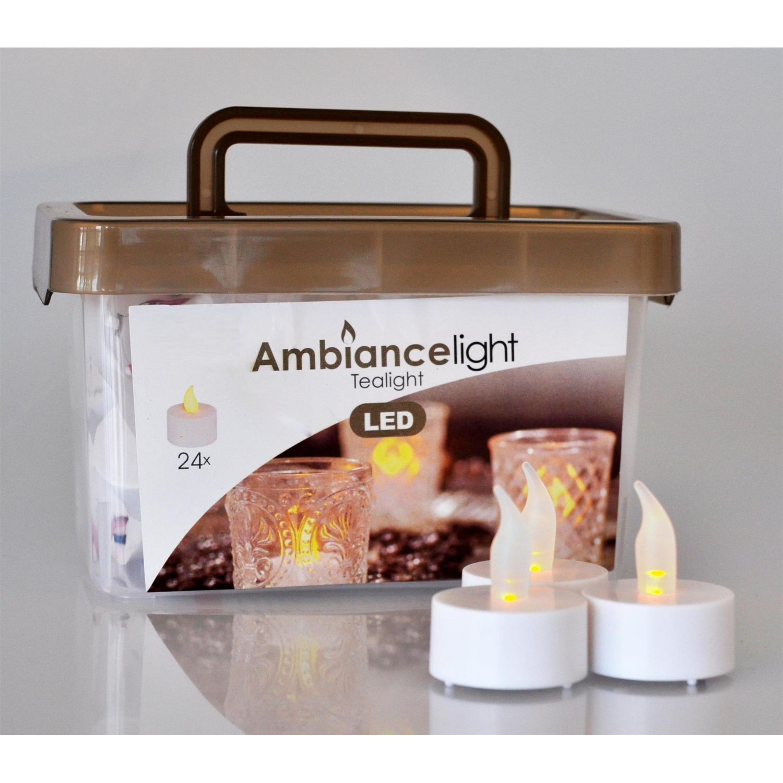 24 led teelichter inkl knopfzellen led kerzen teelichte im eim. Black Bedroom Furniture Sets. Home Design Ideas