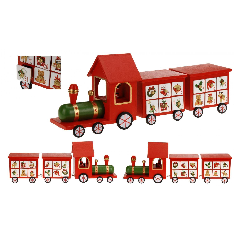 Adventskalender Eisenbahn aus Holz - Dampflok Lokomotive Zug - Weihnachtskalender