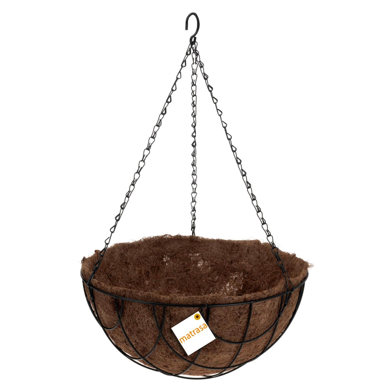 blumenampel rund mit kokosmatte h ngekorb 5 99. Black Bedroom Furniture Sets. Home Design Ideas