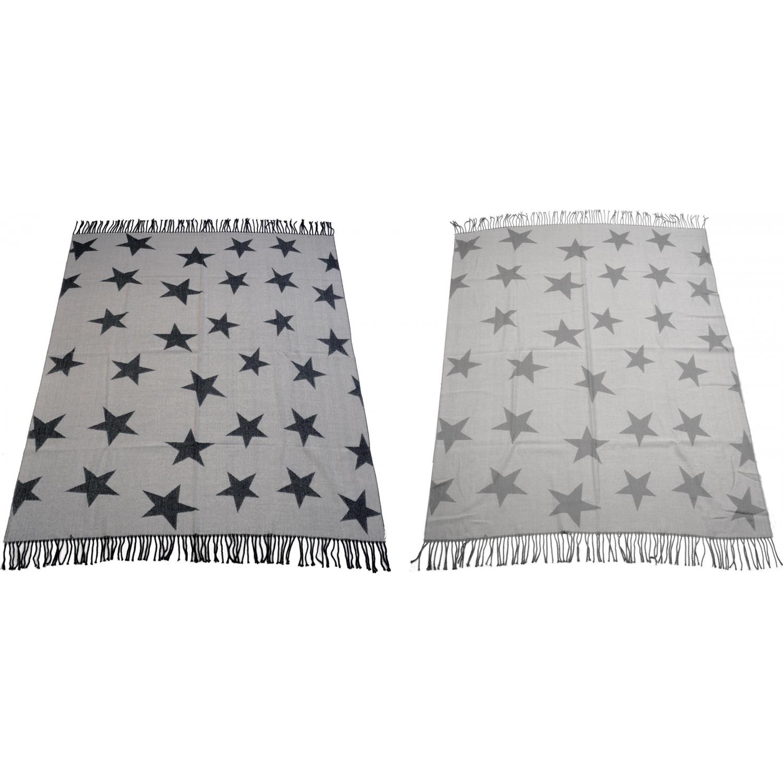 leichte kuscheldecke mit sternen dekodecke weihnachtlich 152x12. Black Bedroom Furniture Sets. Home Design Ideas