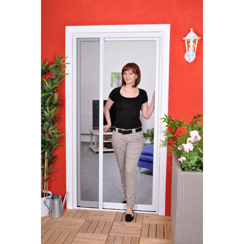 Slim Rollo - Fliegengitter für Tür als Türrollo - Insektenschutzrollo 125 cm x 220 cm braun