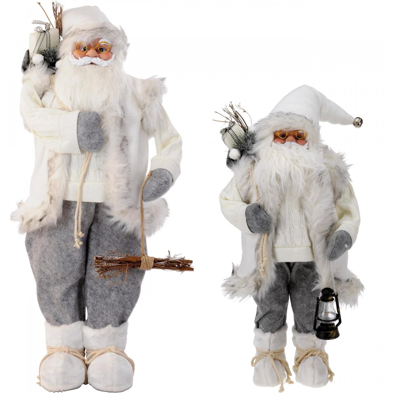 weihnachtsmann mit sack weiss nikolaus dekofigur weihnachten 4. Black Bedroom Furniture Sets. Home Design Ideas