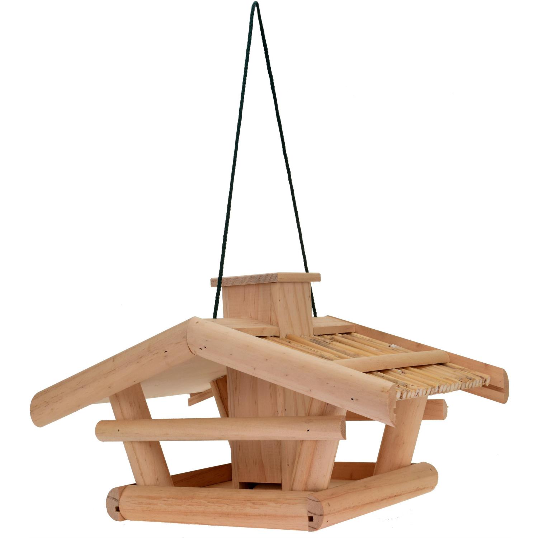 vogelhaus villa aus holz mit futterreservoir. Black Bedroom Furniture Sets. Home Design Ideas