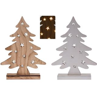 AuBergewohnlich Weihnachtsbaum Aus Holz   10 LED   Batteriebetrieben   37 Cm Weihnachtsdeko
