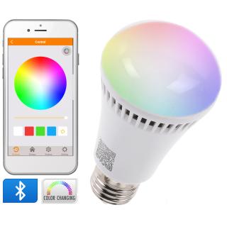 Smart Led Glühbirne Mit Farbsteuerung Per App über Bluetooth E2
