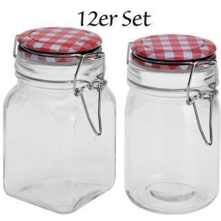 Einmachgläser 12x 90 ml oder 250 ml - Vorratsglas mit B&uuml