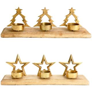 Stern Auf Weihnachtsbaum.Teelichthalter Im Weihnachtlichen Design Stern Oder Weihnachtsbau